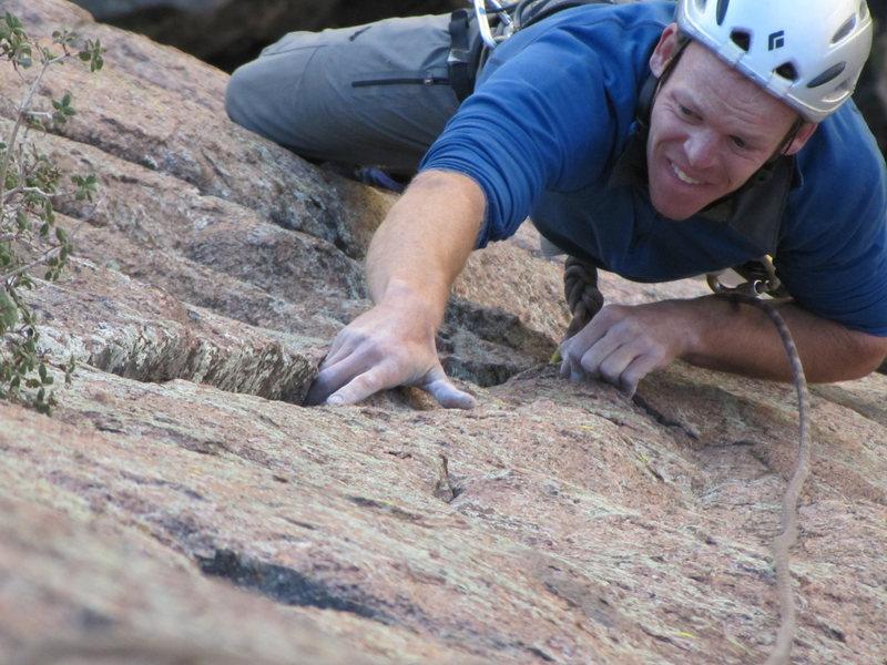 Rock Climbing Photo: Ben K in the Sandias, NM.