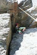 "Rock Climbing Photo: Lilah, wedged up in the ""cave"" of the Pr..."