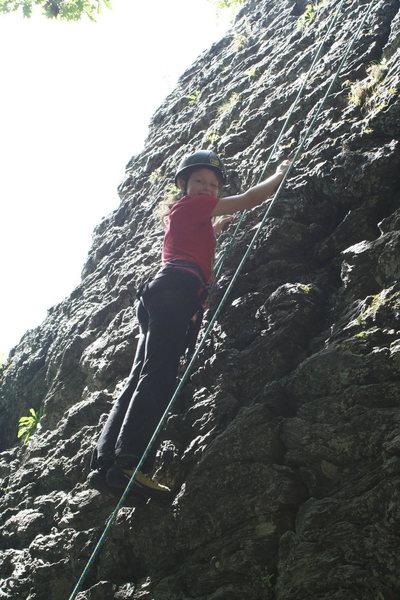 Indigo age 11 y/o climbing away