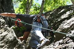 Rock Climbing Photo: Dan climbing Constipation Prize