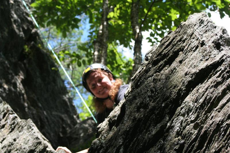 Rock Climbing Photo: HI from uptop!