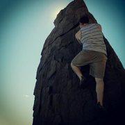 Rock Climbing Photo: Pillar near Thunder Hole