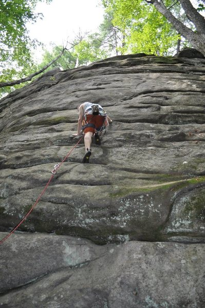 Just past the low crux