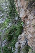 Rock Climbing Photo: David Hein getting froggy.