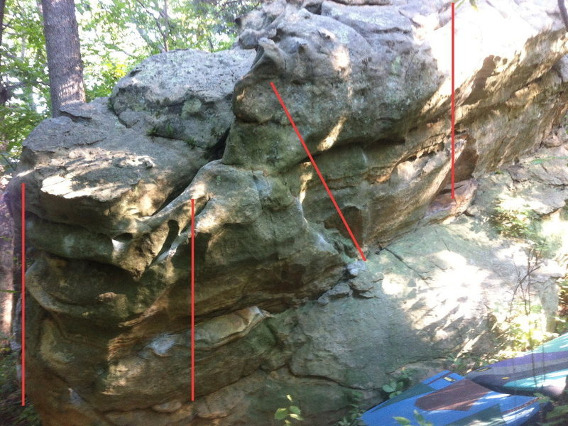 Rock Climbing Photo: second problem from the left.