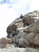 Rock Climbing Photo: At the first bolt. The easiest way to here is to s...