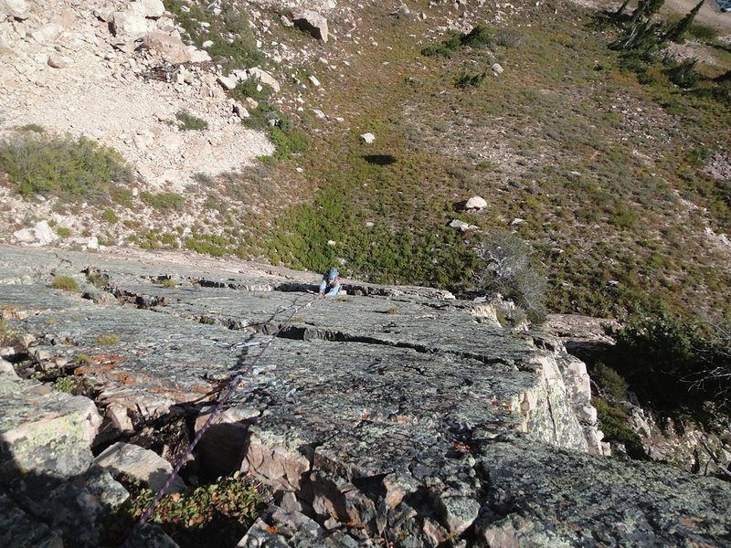 Rock Climbing Photo: The long first pitch