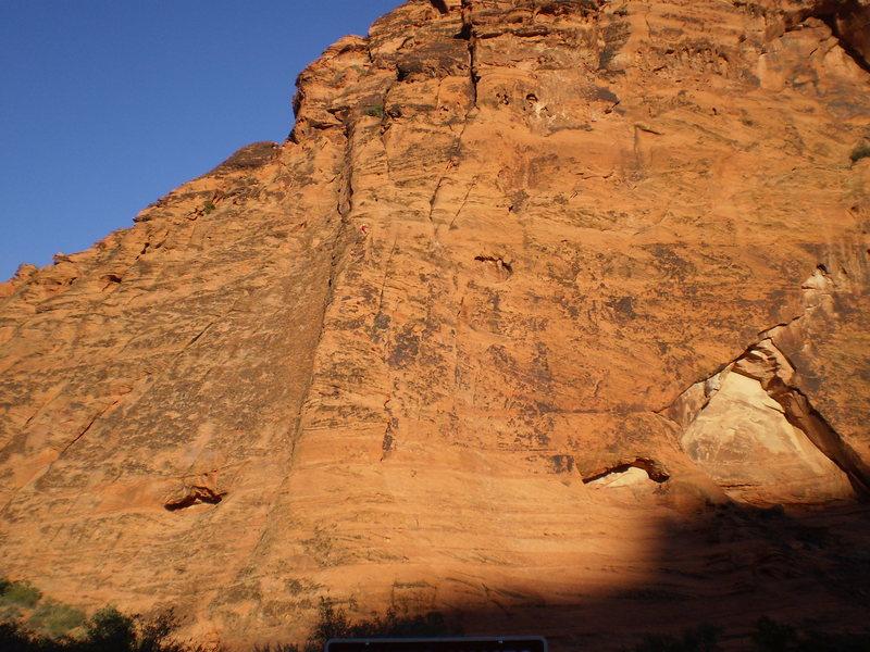 Rock Climbing Photo: Free-soloist on Barbarian