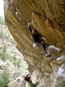 Rock Climbing Photo: Making the first big reach....