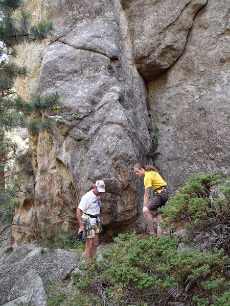 Rock Climbing Photo: Dave and Trent getting ready to climb.  All route ...
