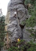 Rock Climbing Photo: The first mini-crux.