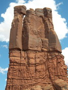 Rock Climbing Photo: viewed from the west. the route is obvious on the ...