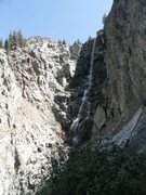 Rock Climbing Photo: Grizzly falls from start of the third pitch