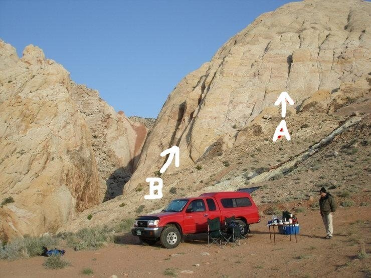 Rock Climbing Photo: Uneva Canyon.  Routes inside Canyon. After Thought...