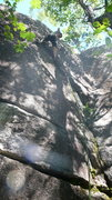 """Rock Climbing Photo: This route really speaks to me. It says """"thun..."""