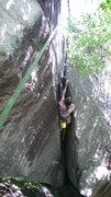 Rock Climbing Photo: Nick getting horizontal.