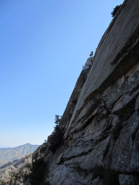 Rock Climbing Photo: The awesome second pitch of Warm and Free as seen ...