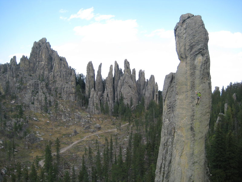 Rock Climbing Photo: Lee Terveen going for redpoint. Taken by Travis Hi...