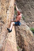 Rock Climbing Photo: Keith gives the Gym Arête Direct the finger. Sept...