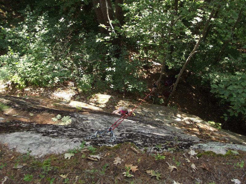 Rock Climbing Photo: MacKenzie on Feild Goal