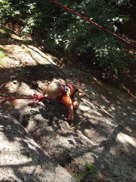 Rock Climbing Photo: Another one of Zackary crusing Feild Goal