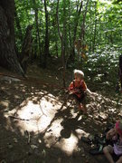 Rock Climbing Photo: dennis the menace getting ready to climb (Zackary)