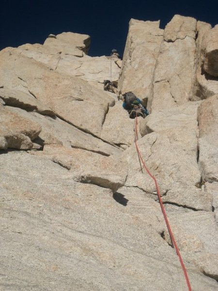 Rock Climbing Photo: leading first pitch
