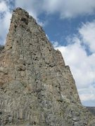 Rock Climbing Photo: Sharkstooth, as viewed from the summit of the Peti...