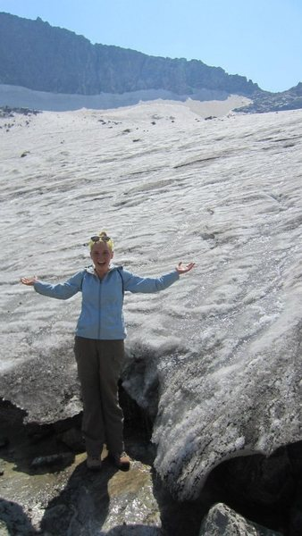 Me on a glacier in the Wind River Range