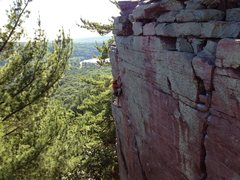 Rock Climbing Photo: Brian Kelly on the last few moves of Upper Diagona...