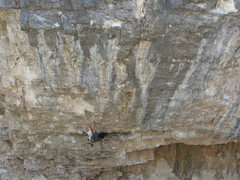 Rock Climbing Photo: another shot of the crux throw launch pad.  wei cl...