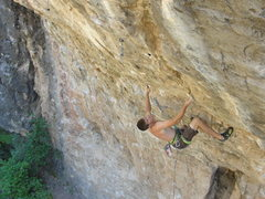 Rock Climbing Photo: chris, with his tall man beta, setting up for the ...