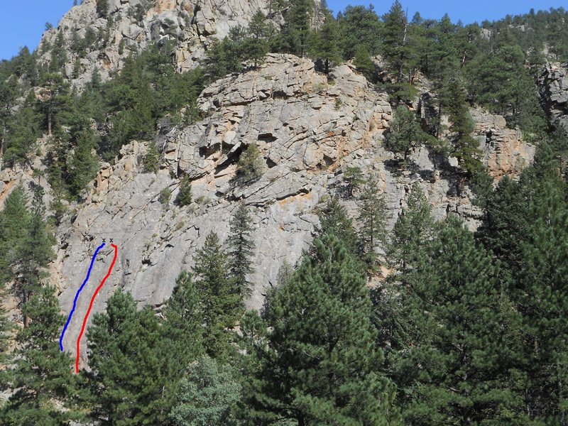 Rock Climbing Photo: The Terraphile and current routes from the road.