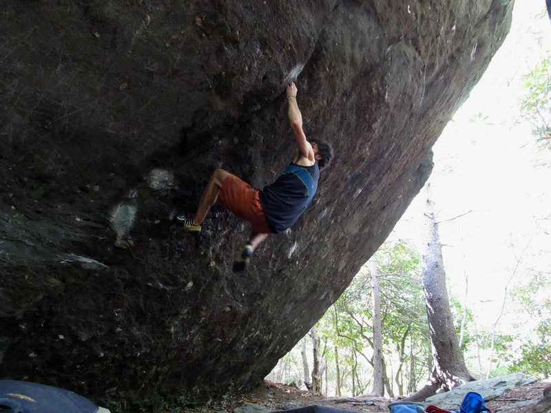 Hype: Last photo the camera took in the action shot sequence but the line continues through FSM and tops out (V5ish moves?)