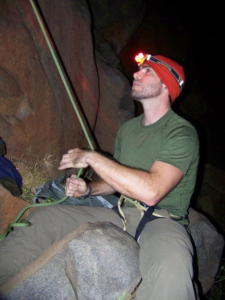 Rock Climbing Photo: Night Climbing in Mission Gorge ~ Belay Monkey