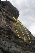 Rock Climbing Photo: SR showing Upper Tier far right side.