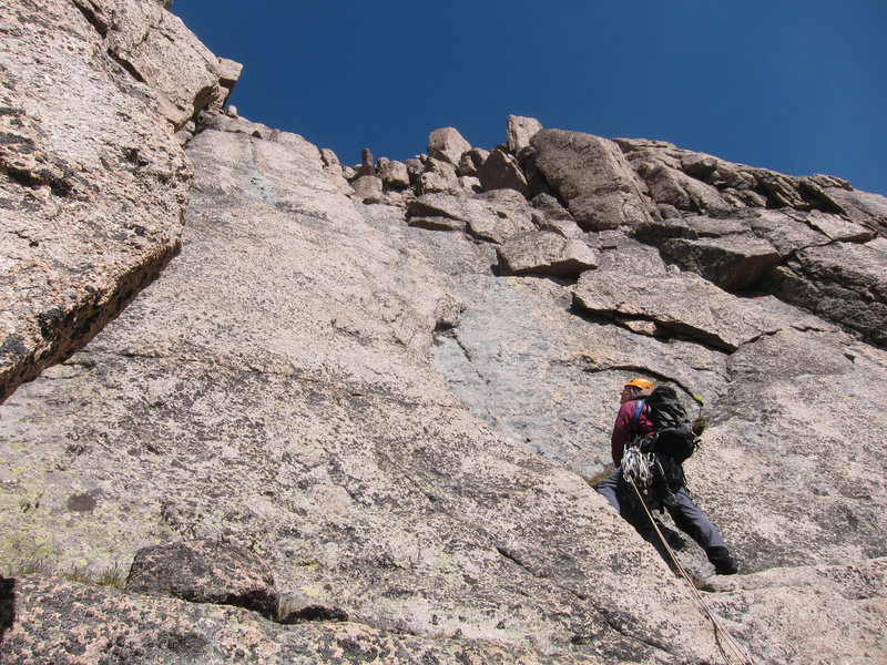 Rock Climbing Photo: Lisa studying her options near the start of the fo...