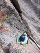 Rock Climbing Photo: Nancy near the top of the steep beginning section ...