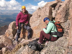 Rock Climbing Photo: Lisa and Nancy at the top of the climb on the Keyh...