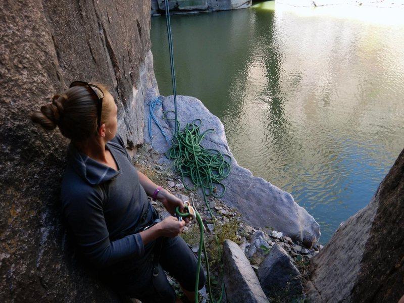 Rock Climbing Photo: From base of Bushwacker
