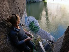 Rock Climbing Photo: From base of Bushwacker