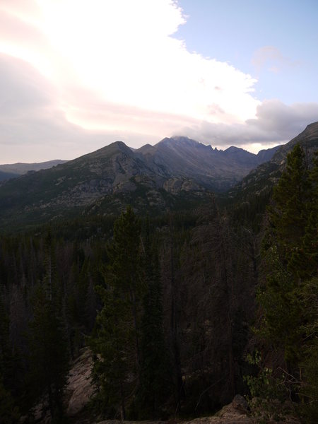 A good view of Longs peak from the Northwest