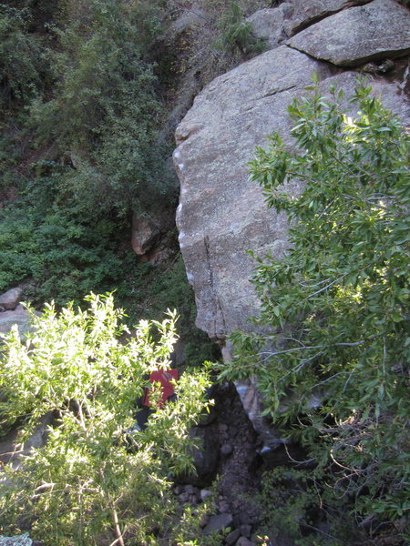 Rock Climbing Photo: The top arete/section as seen from the approach fr...