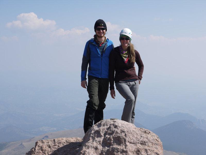 The Beautiful summit of longs peak