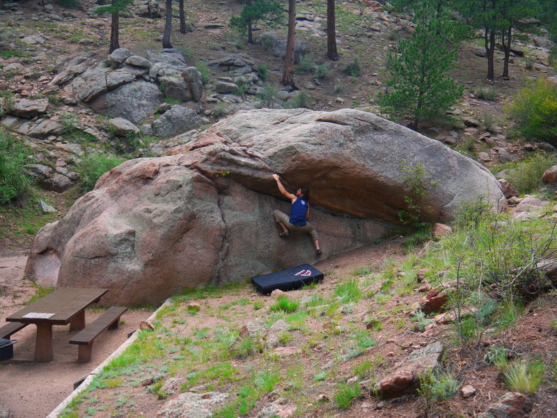 Rock Climbing Photo: Bouldering/picnic area in Eleven Mile Canyon