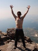 Rock Climbing Photo: Summit of Longs (Shirtless Version)