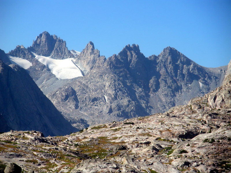 Left to right from the south- Woodrow, Sphinx, Bob's Towers, Miriam (and Bonney Pass).