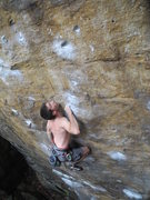 Rock Climbing Photo: Nick moving through the crux