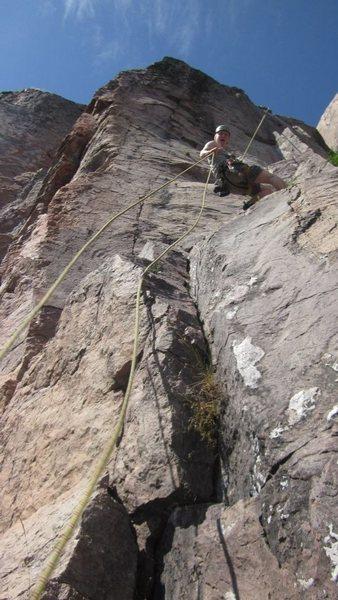 Rock Climbing Photo: Rapping down Phantom Crack at Palisade Head