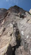 Rock Climbing Photo: Rapping down Phantom Crack at Palisade Head